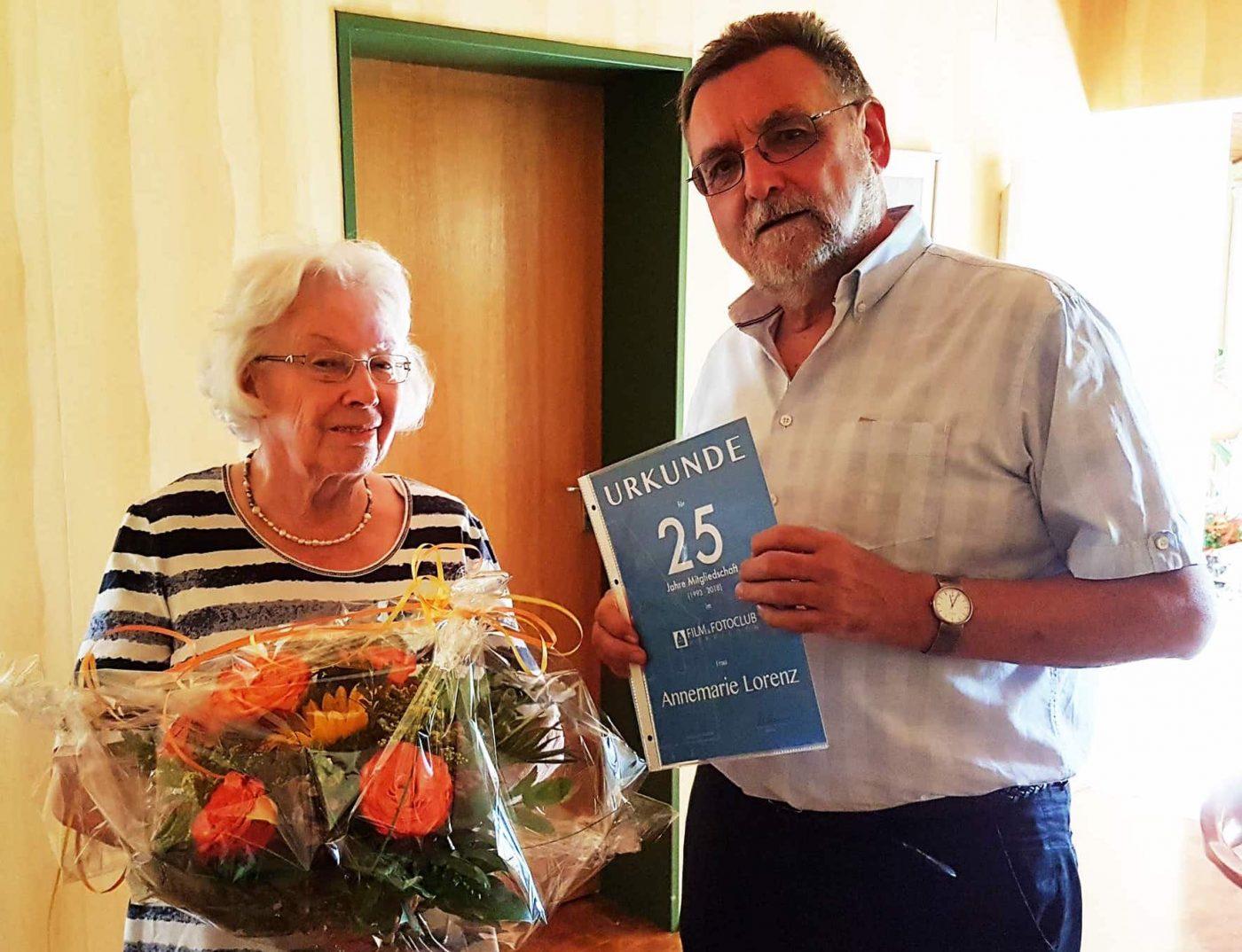 die Jubilarin Annemarie Lorenz & Johannes Heumann