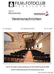 Vereinsnachrichten 2019/2